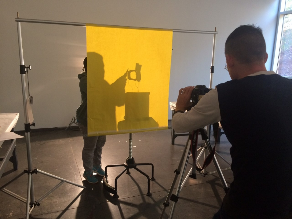 "Photographing the letterform ""d"""