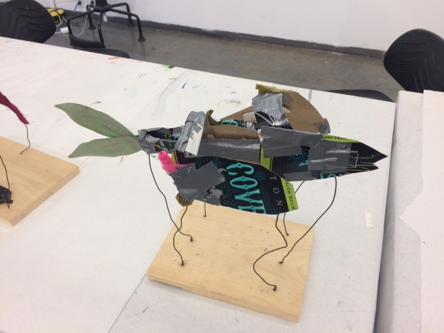 "A fish sculpture that will also become an ""M"" once rotated"