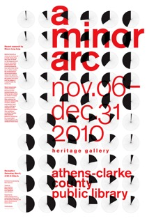 A Minor Arc exhibition poster
