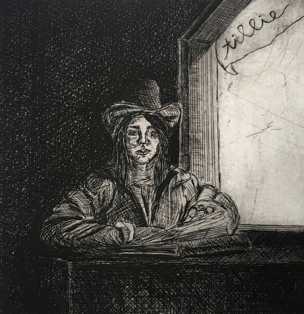 "Tillie Allen ""Tillie Drawing at a Window"""
