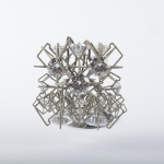 "TITLE: ""ELSAQ1"" MATERIAL: STAINLESS STEEL, CUBIC ZIRCONIA, THREAD SIZE H=85 W=90 D=90 MM"