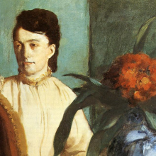 Detail, Degas, Portrait of Estelle Musson Balfour Degas, 1872