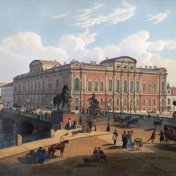 J-M. Charlemagne (1824-1870), View of the Belosselsky-Belozersky Palace on Nevsky Prospect in Saint Petersburg, c. 1850