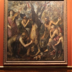 Titian, Flaying of Marsyas  Installation image