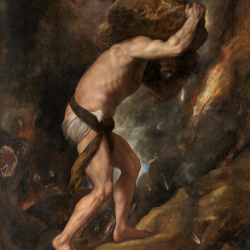 Titian, Sisyphus from the so-called Furies, 1548-49, Museo del Prado, Madrid.