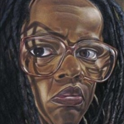 Diane Edison, Self Portrait with Glasses (detail)  Courtesy of the artist and George Adams Gallery.