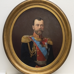 Unidentified artist, Nicholas II, Oil on canvas, 34 x 28 1/2 inches, Georgia Museum of Art, University of Georgia; Promised gift from the Parker Collection