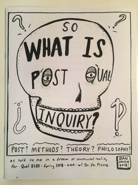 "Dan Smith, What is Post Qual Inquiry?, 2018, 8.5"" x 11"""
