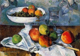 Cezanne, Still life with compotier, 1879-82
