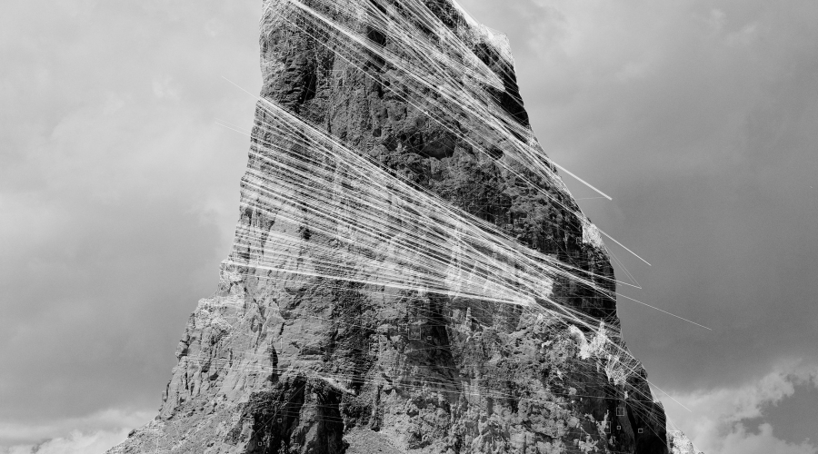 Agathla Peak Hough Transform; Haar, 2018 Silver gelatin LE print 60 × 48 in. Copyright Trevor Paglen, Courtesy of the Artist and Altman Siegel, San Francisco
