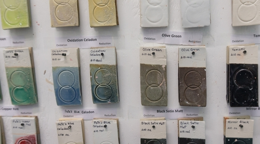 Ceramic color swatches