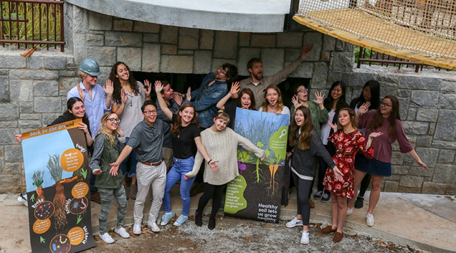 Graphic Design Students Design Exhibit for the Botanical Gardens