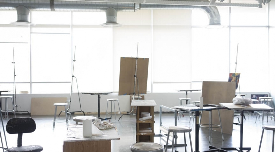 Drawing and painting classroom
